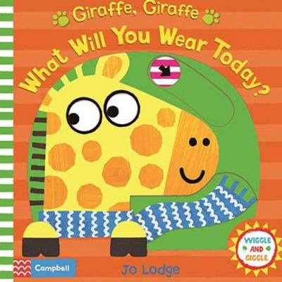 Giraffe,Giraffe What Will You Wear Today? 長頸鹿今天穿什麼?硬頁推拉書