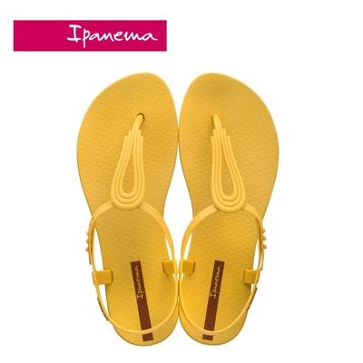 IPANEMA CLASS POP IV 水滴鏤空T字涼鞋-黃