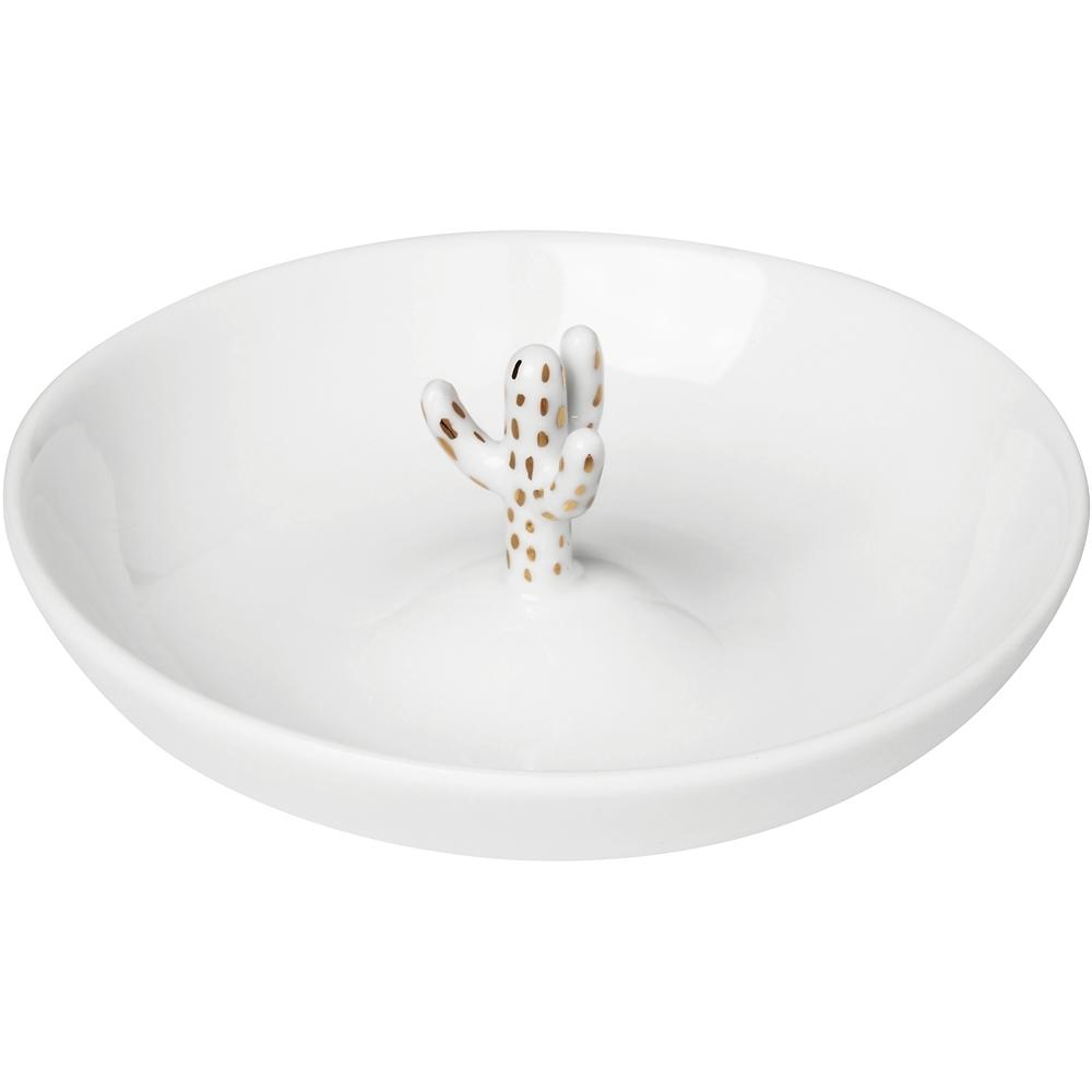 《RADER》手工白瓷印花飾品盤(仙人掌9.5cm)
