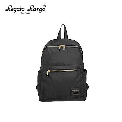 Legato Largo 防潑水微光澤後背包-黑 LH-E0722BK