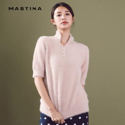 【MASTINA】毛海半開襟-針織衫(三色)