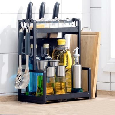 【HappyLife】30cm兩層廚房收納架+刀架+砧板架 30×22×41.5CM