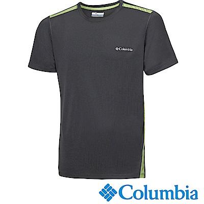 Columbia哥倫比亞 男款-快排短袖上衣-深灰 UAE12920DY