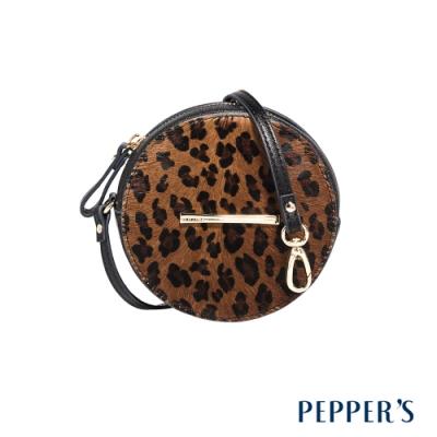 PEPPER S Rebellion 羊皮圓形零錢包 - 豹紋