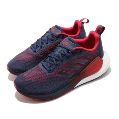 adidas 慢跑鞋 Alphalava 運動 男鞋 愛迪達 路跑 緩震 Boost底 透氣 藍 紅 H05042