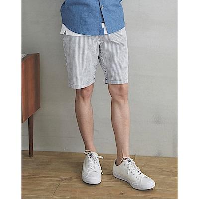 CACO-直條紋鬆緊短褲(兩色)-男【SPA058】