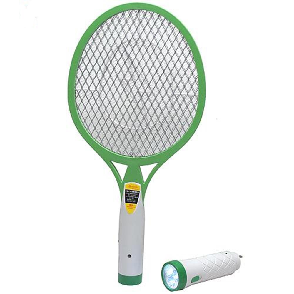 KINYO充電分離式手電筒3層強力捕蚊拍(CM-2215)