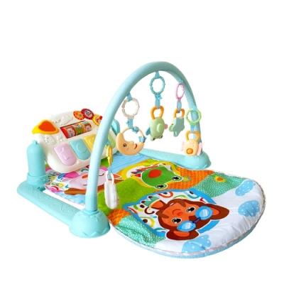Kikimmy 可愛動物嬰兒鋼琴健身架(藍)