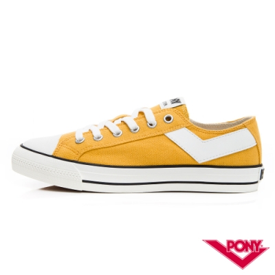 【PONY】Shooter系列百搭復古經典帆布鞋 休閒鞋 情侶鞋 女鞋 黃色