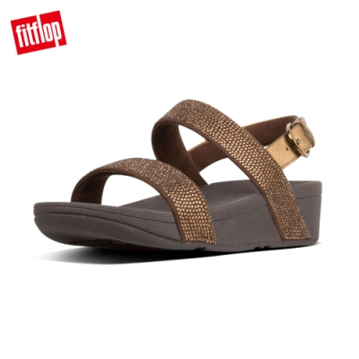 FitFlop LOTTIE SHIMMERCRYSTAL BACK-STRAP SANDALS 經典款式後帶涼鞋-女(銅色)