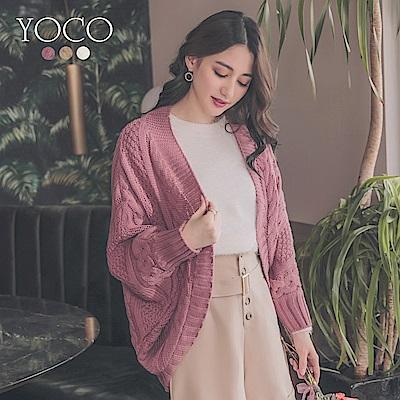東京著衣-yoco 質感至上飛鼠袖優雅剪裁針織外套(共三色)