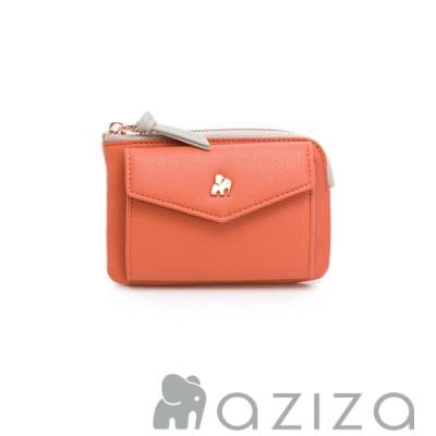 aziza CLARA鑰匙零錢包-珊瑚紅