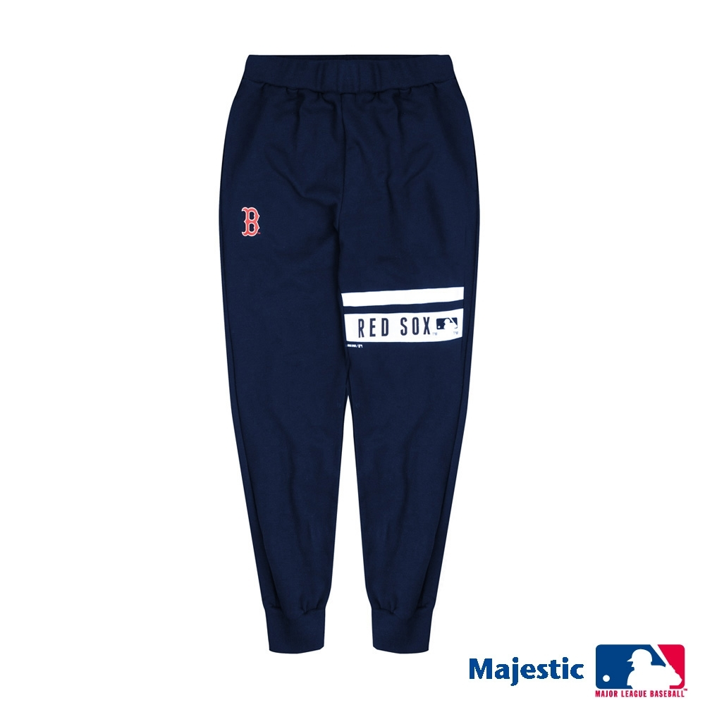 MLB-紅襪隊LOGO純棉印花潮褲-深藍 (男)