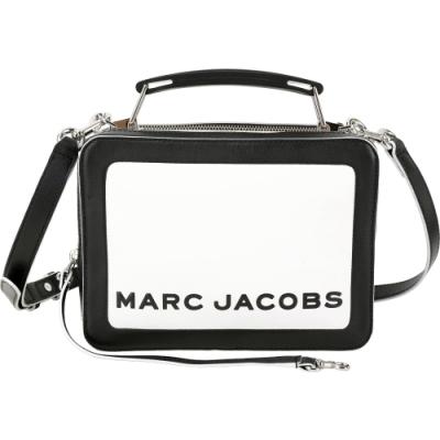 MARC JACOBS THE BOX 23 撞色雙拉鍊牛皮兩用包(黑白)