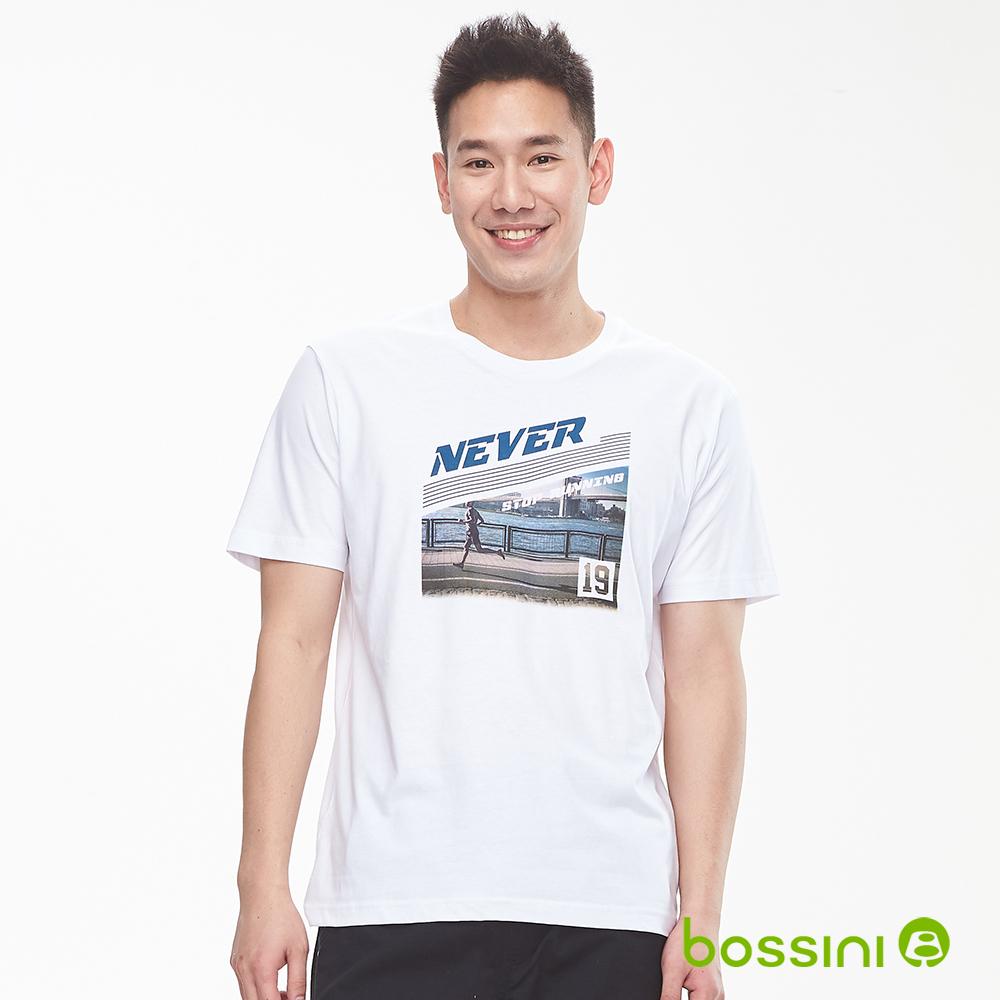 bossini男裝-印花短袖T恤14白
