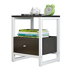 [團購2入]Incare 木紋多功能收納置物抽屜櫃/小茶几(床邊櫃)-2色可選