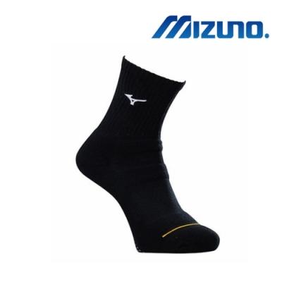 Mizuno美津濃 男運動厚底襪 (6雙入) 黑x黃 32TX90G345Q