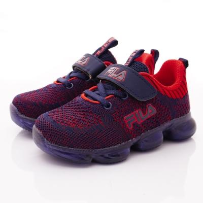 FILA頂級童鞋 果凍電燈運動鞋款 EI51T-323藍紅(中小童段)
