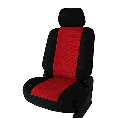 【葵花】量身訂做-汽車椅套-日式合成皮-賽車D式-露營車款-雙前座-第一排2人座