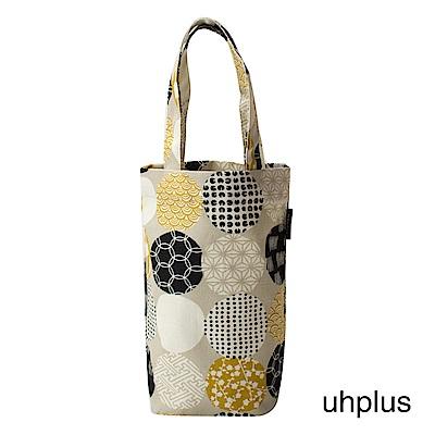 uhplus Love Life 隨行環保飲料袋(長版)- 円和柄(灰)
