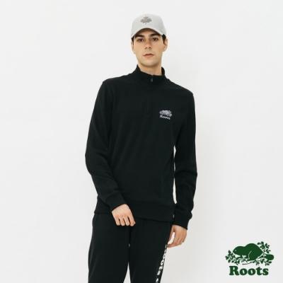 男裝Roots  BREATHE立領上衣-黑