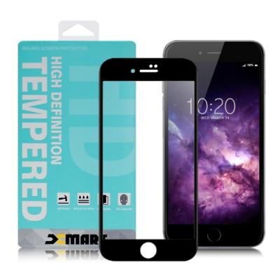 Xmart for iPhone 6S /iPhone 6 用 高透光2.5D滿版玻璃貼-黑 2張