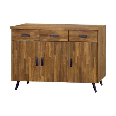 Boden-杰恩4尺工業風收納餐櫃/碗盤櫃/電器櫃-120x40x78cm