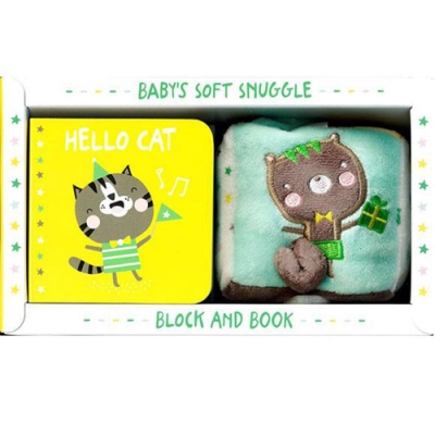 Baby s Soft Snuggle Block & Book:Hello Cat 貓咪和動物朋友的遊戲書