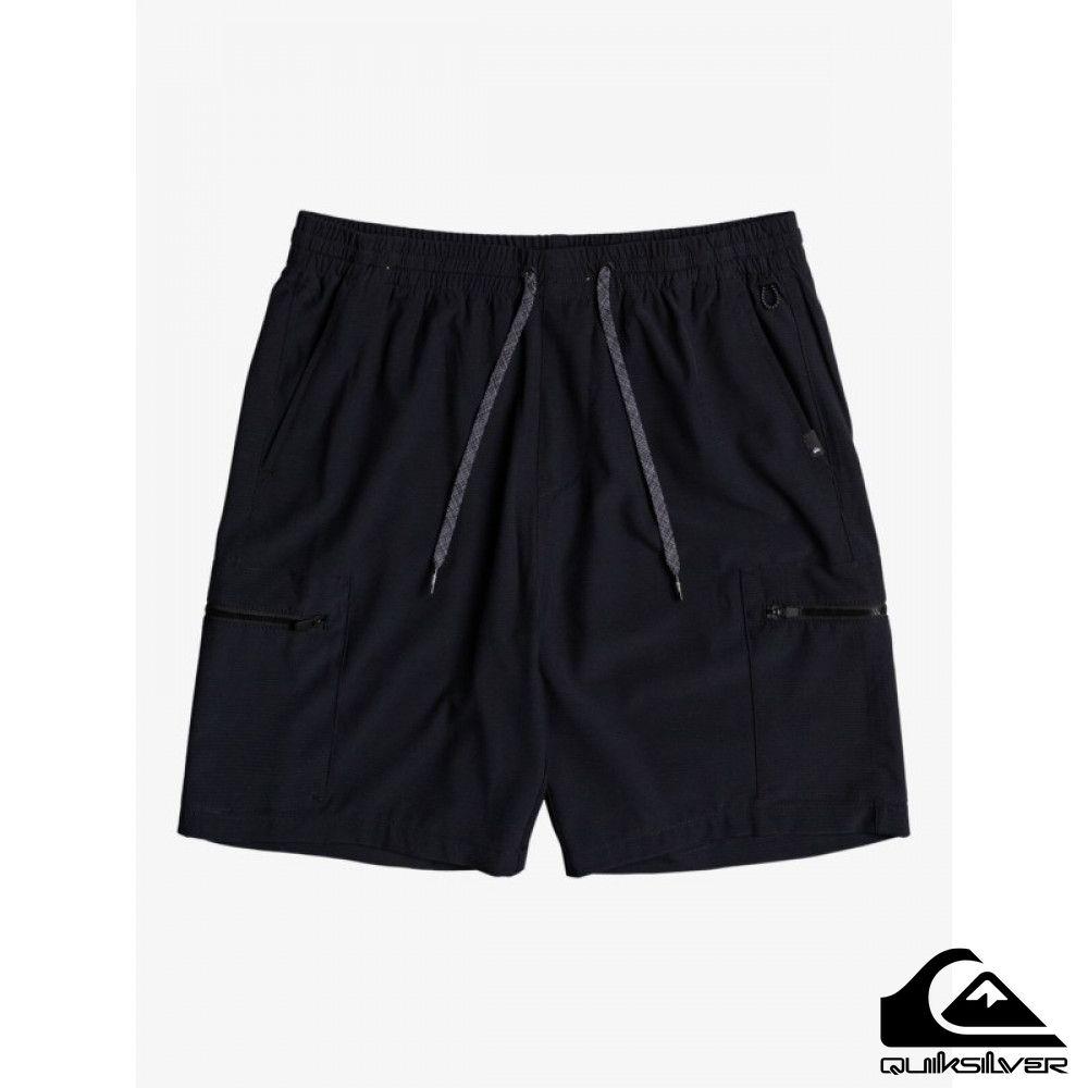【QUIKSILVER】ELASTIC CARGO AMPHIBIAN 19 水陸浪游褲 黑色
