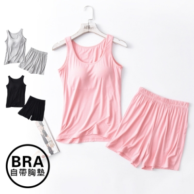 Sleeping Beauty 莫代爾Bra背心短褲套裝-3色可選