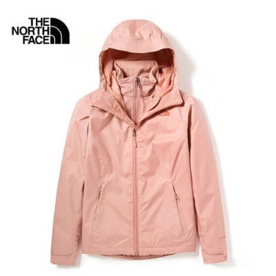 The North Face 女 防水透氣三合一外套 粉-NF0A4N9WR13