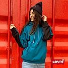 Levis 男女同款 帽T  3D立體LOGO  藍黑正反撞色