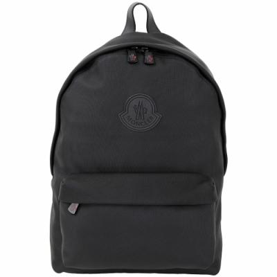 MONCLER PIERRICK 品牌徽章黑色尼龍後背包