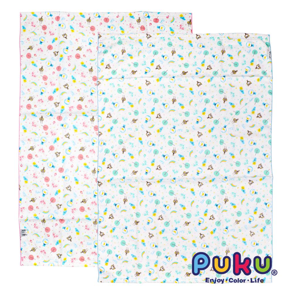 【PUKU】印花紗布大浴巾
