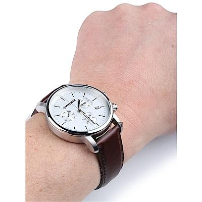 WENGER 威格 Urban 都市系列簡約三眼計時手錶(01.1743.101)-44mm