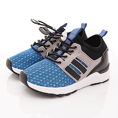 洋基MLB童鞋 簡約彈力運動款 NI83056藍(中小童段)