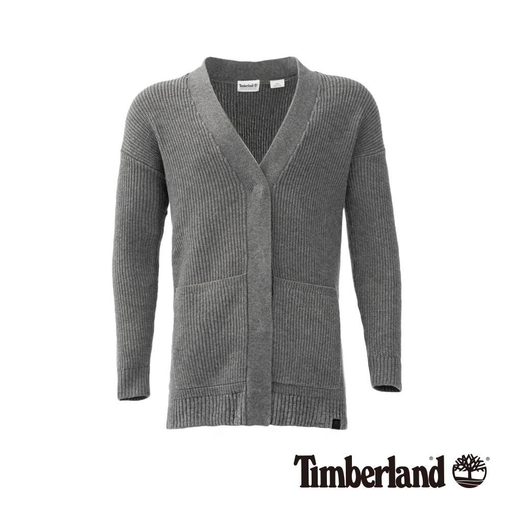 Timberland 女款灰色石南花色平紋毛衣   B2707