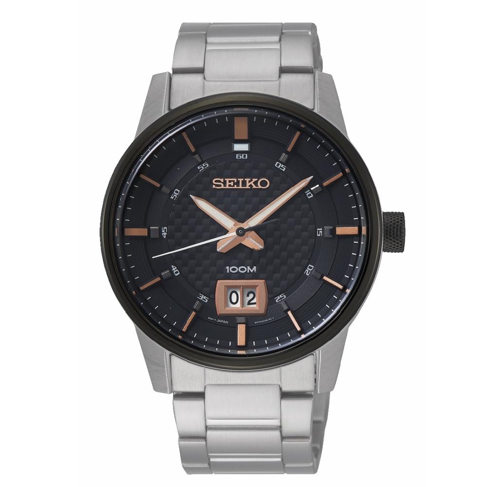 SEIKO 精工格紋風格時尚腕錶/6N76-00H0K/SUR285P1