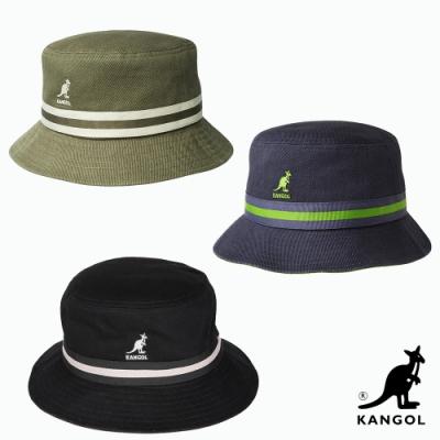 【時時樂限定】KANGOL-STRIPE水洗棉質漁夫帽-三色可選