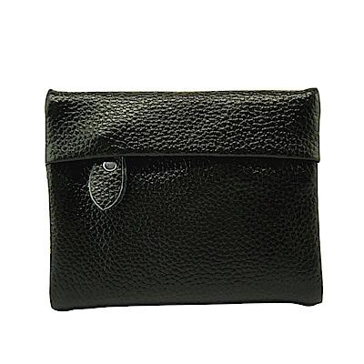 Sun peache釘扣式短夾錢包-PH22051黑色