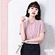 UGIZ-修身氣質圓領木耳邊雪紡造型上衣-粉色(M-XL) product thumbnail 1