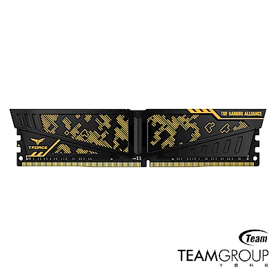 Team十銓 TUF Gaming 黃色DDR4-2400 16GB(8GB*2)