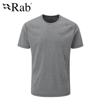 【英國 RAB】Mantle Tee 圓領透氣短袖T恤 男款 鯨魚灰 #QBL11