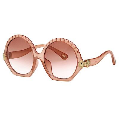 CHLOE 圓框 太陽眼鏡 (裸色)CE747SA