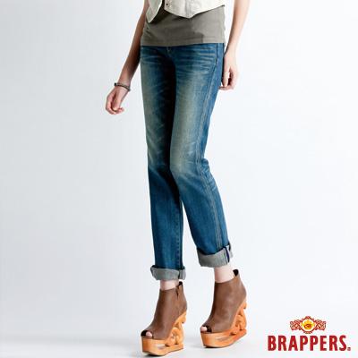 BRAPPERS 女款 Boy Friend Jeans系列-女用直筒褲-藍