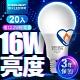 億光EVERLIGHT LED燈泡 16W亮度 超節能plus 僅12.2W用電量 白光/黃光 20入 product thumbnail 1