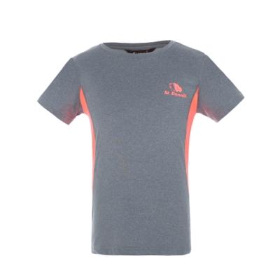 【St. Bonalt 聖伯納】女童 撞色涼感速乾圓領T恤-7147(專業吸濕 超強排汗 涼感透氣)
