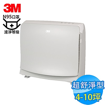 3M 4-10坪 超舒淨型 空氣清淨機 FA-M13 N95口罩濾淨原理