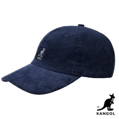 KANGOL-燈芯絨棒球帽-深藍色
