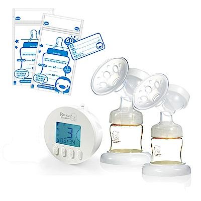 酷咕鴨KU.KU. 智能韻感雙邊吸乳器+藍色企鵝 PUKU Petit 母乳儲存袋60ml